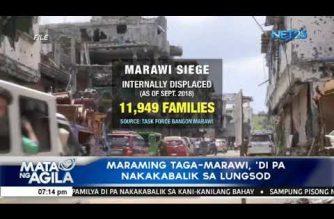 Maraming taga-Marawi, 'di pa nakakabalik sa lungsod