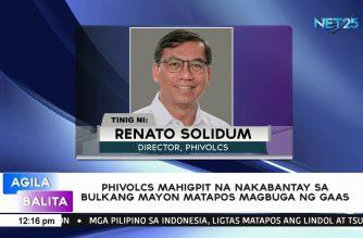 PHILVOCS mahigpit na nakabantay sa Bulkang Mayon matapos magbuga ng gaas