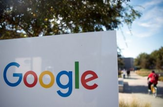 """(FILES) In this file photo taken on November 4, 2016 a man rides a bike pass a Google sign and logo at the Googleplex in Menlo Park, California. - Google-parent Alphabet on October 31, 2018 confirmed that an executive accused of sexual harassment left the company without an exit package as tension over its handling of such matters heightened. Word that Rich DeVaul, a director at X lab devoted to """"moonshots"""" such as internet service from balloons, was out came with reports that women employees were trying to organize a walk-out on Thursday to protest lenient handling of sexual misconduct in the workplace. (Photo by JOSH EDELSON / AFP)"""