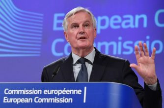 "EU chief Brexit negotiator Michel Barnier addresses the press at the European Commission on November 14, 2018, after British Prime Minister May won the support of her cabinet for a draft divorce deal with the EU. - The European Union's chief Brexit negotiator Michel Barnier said on November 14 that ""decisive progress"" had been made towards a Brexit deal -- the key phrase to trigger a summit to sign it. Britain is set to leave the European Union in just over four months. The British cabinet gave its go-ahead to a draft deal with Brussels on November 14. (Photo by Emmanuel DUNAND / AFP)"