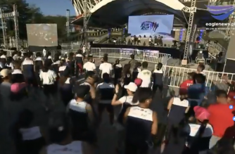 News in photos: Warm up exercises for runners of EBC Family Fun Run