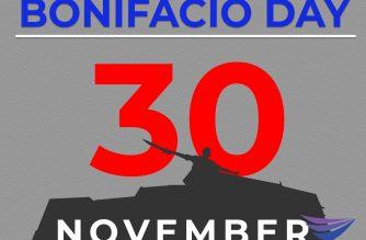 November 30 is Bonifacio Day