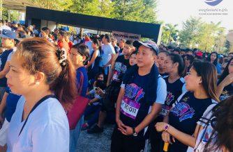 Former MMDA chair Francis Tolentino participates in the EBC Family Fun Run