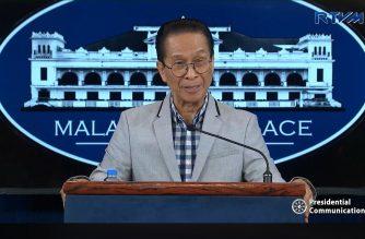 (File photo) Presidential Spokesperson Salvador Panelo during a pres briefing on Thursday, Nov. 8, 2018, in Malacanang.  (Photo grabbed from RTVM)