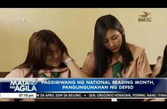Pagdiriwang ng National Reading Month, pangungunahan ng DepEd