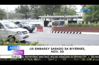 US Embassy in Manila closed on Friday, Nov. 30