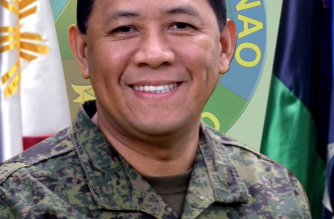 A picture of General Benjamin Madrigal Jr. before he was appointed as Armed Forces chief .