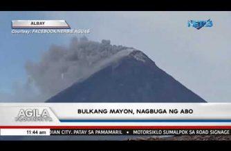Bulkang Mayon nagbuga ng abo – PHIVOLCS