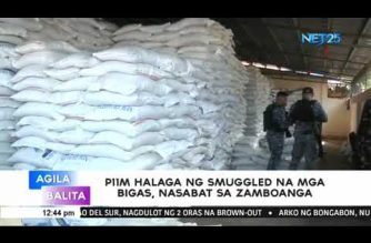 Coast Guard seizes P11-M worth of smuggled rice in Zamboanga