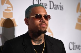 (FILES) In this file photo taken on February 7, 2015 US rapper Chris Brown attends the Pre-GRAMMY Gala at The Beverly Hilton Hotel in Beverly Hills, California. - US rapper Chris Brown is detained in Paris after a rape claim, security sources told on January 22, 2019. (Photo by Jason Merritt / GETTY IMAGES NORTH AMERICA / AFP)