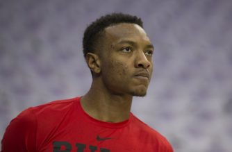 PHILADELPHIA, PA - OCTOBER 18: Wendell Carter Jr. #34 of the Chicago Bulls looks on prior to the game against the Philadelphia 76ers at Wells Fargo Center on October 18, 2018 in Philadelphia, Pennsylvania. NOTE TO USER: User expressly acknowledges and agrees that, by downloading and or using this photograph, User is consenting to the terms and conditions of the Getty Images License Agreement.   Mitchell Leff/Getty Images/AFP