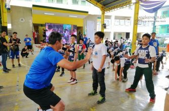 Children undergo exercises that will ensure their physical well-being at the EBC Cares held in New Era Elementary School in Quezon City on Friday, Jan. 25./Meanne Corvera/Eagle News/
