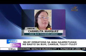Relief operations sa mga naapektuhan ng bagyo sa Buhi, Camarines Sur, tuluy-tuloy – NDRRMC