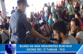 Bilang ng mga pasaherong bumiyahe noong Dec. 31 tumaas – PCG