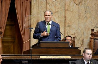 Gov. Jay Inslee delivered his 2019 State of the State address to a joint session of the Washington State Senate and House of Representatives. Photo courtesy of Office of the Governor.