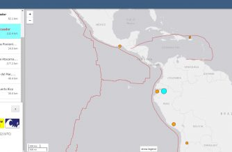 Strong 7.5 magnitude quake hits Eacuador on Friday, Feb. 22, 2019.  (Photo cropped from USGS website/Courtesy US Geological Survey)