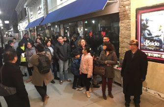 "Moviegoers lining up to watch EBC Films' ""Guerrero""."
