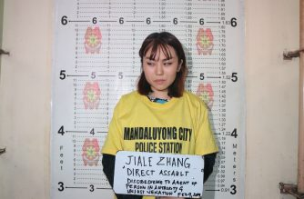 A mugshot of the Chinese national who was seen throwing taho at a police officer who refused to let her in an MRT-3 station, where a ban on food and drinks is implemented./NCRPO/