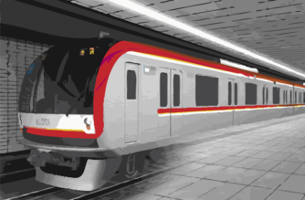 Mega Manila Subway train. Artist's impression of the proposed subway project traversing Metro Manila, Bulacan, and Cavite in the Philippines.  (Courtesy Department of Transportation)