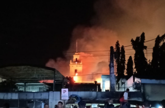 A part of the Bureau of Customs was hit by a fire on Friday, Feb. 22. /Earlo Bringas/Eagle News/