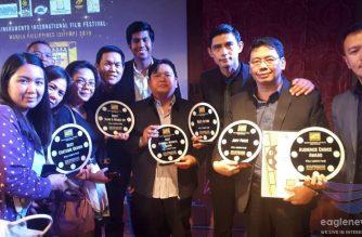 "CEBSI Films' ""Kapayapaan Sa Gitna ng Digmaan"" bags six major awards, including the jury award and best actor, at the 2019 Singkuwento International Film Festival Manila Philippines (SIFFMP).  (Photo courtesy CEBSI and SIFFMP)"