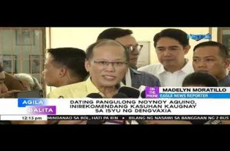 House panels recommend filing of charges vs Aquino, others over Dengvaxia mess