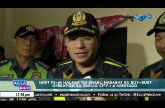 Mahigit P6M halaga ng shabu nasabat sa buy-bust operation sa Taguig City ; 4 na katao arestado