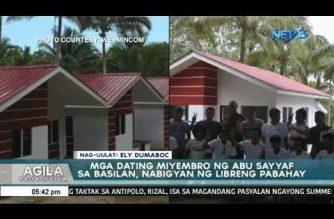 Mga dating miyembro ng Abu Sayyaf sa Basilan, nabigyan ng libreng pabahay