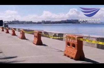 Roxas Boulevard nilagyan na ng orange barrier; pag-upo sa sea wall at pagbaba sa dagat, bawal na