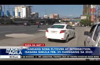 Tandang Sora flyover at intersection isasara simula Pebrero 23 hanggang sa 2020