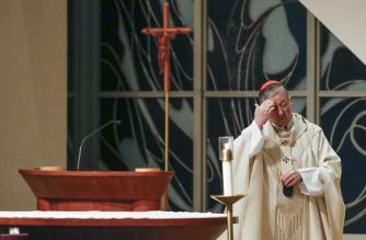 Cardinal Blase J. Cupich presides over a Simbang Gabi Mass at the Old St. Mary's Catholic Church in Chicago, Illinois, on December 20, 2018. - US bishops preparing for a meeting to address the sexual abuse scandal roiling the Catholic Church suddenly find themselves in a high-stakes credibility test following a damning report accusing them of underplaying the crisis. Illinois Attorney General Lisa Madigan on Decemeber 19, 2018, issued an explosive report accusing the states Catholic dioceses of not releasing the names of at least 500 clergy accused of sexually abusing children. (Photo by KAMIL KRZACZYNSKI / AFP)