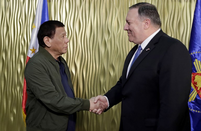 """President Duterte, US State Secretary meet on regional issues; Pompeo describes meeting as """"productive"""""""