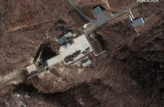 "This satellite image provided by 2019 DigitalGlobe, a Maxar company, shows the Sohae Satellite Launching Station in North Korea, on December 5, 2018. - Researchers say that rebuilding of the long-range rocket site has been underway since the summit and may have started before the Vietnam meeting between US President Donald Trump and North Korean leader Kim Jong-un on February 28. ""This facility had been dormant since August 2018, indicating the current activity is deliberate and purposeful,"" said researchers at the Washington-based Center for Strategic and International Studies. (Photo by HO / Satellite image ©2019 DigitalGlobe, a Maxar company / AFP) / RESTRICTED TO EDITORIAL USE - MANDATORY CREDIT ""AFP PHOTO / Satellite image ©2019 DigitalGlobe, a Maxar company"" - NO MARKETING NO ADVERTISING CAMPAIGNS - DISTRIBUTED AS A SERVICE TO CLIENTS --- NO ARCHIVE ---"