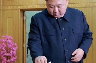"In this picture taken on March 10, 2019 and released from North Korea's official Korean Central News Agency (KCNA), North Korean leader Kim Jong-Un casts his ballot for the Supreme People's Assembly elections, at a polling station in Kim Chaek University of Technology in Pyongyang. - North Koreans went to the polls for an election in which there could be only one winner. Leader Kim Jong Un's ruling Workers' Party has an iron grip on the Democratic People's Republic of Korea, as the isolated, nuclear-armed country is officially known. (Photo by KCNA VIA KNS / KCNA VIA KNS / AFP) / South Korea OUT / ---EDITORS NOTE--- RESTRICTED TO EDITORIAL USE - MANDATORY CREDIT ""AFP PHOTO/KCNA VIA KNS"" - NO MARKETING NO ADVERTISING CAMPAIGNS - DISTRIBUTED AS A SERVICE TO CLIENTS / THIS PICTURE WAS MADE AVAILABLE BY A THIRD PARTY. AFP CAN NOT INDEPENDENTLY VERIFY THE AUTHENTICITY, LOCATION, DATE AND CONTENT OF THIS IMAGE --- /"