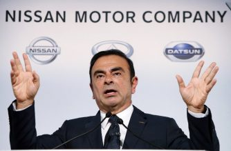 In this file photo taken on November 1, 2013, Japan's auto giant Nissan Motor president Carlos Ghosn announces the company's first half financial result ended September at the company's headquarters in Yokohama, suburban Tokyo. - Former Nissan chief Carlos Ghosn is seeking court permission to attend a board meeting at the Japanese automaker while out on bail, local media reported on March 11, 2019. (Photo by JIJI PRESS / JIJI PRESS / AFP)