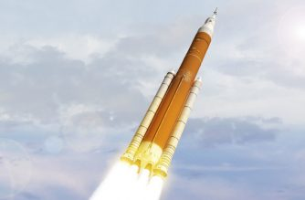 "This NASA February 7, 2018, file artist concept image shows the next generation of NASA's Space Launch System. - NASA announced on March 13, 2019, that the development of its next major rocket, SLS, was facing new delays, and that the space agency now wanted to entrust the next mission around the Moon to the private sector. Boeing has been developing the Space Launch System (SLS) rocket for NASA for years. But being three years behind schedule, the first unmanned mission consisting of a round trip around the moon, called ""EM-1"", was postponed until June 2020. (Photo by HO / NASA / AFP) / RESTRICTED TO EDITORIAL USE - MANDATORY CREDIT ""AFP PHOTO / NASA"" - NO MARKETING NO ADVERTISING CAMPAIGNS - DISTRIBUTED AS A SERVICE TO CLIENTS TO GO WITH AFP STORY ""New problems and delays for NASA's next big rocket"""