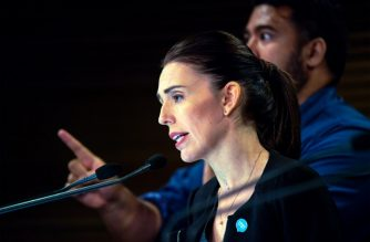 New Zealand Prime Minister Jacinda Ardern speaks during a Post Cabinet media press conference at Parliament in Wellington on March 18, 2019. - New Zealand will tighten gun laws in the wake of its worst modern-day massacre, the government said on March 18, as it emerged that the white supremacist accused of carrying out the killings at two mosques will represent himself in court. (Photo by Dave LINTOTT / AFP)