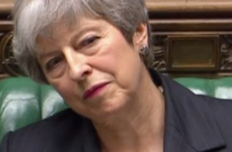 "A video grab from footage broadcast by the UK Parliament's Parliamentary Recording Unit (PRU) shows Britain's Prime Minister Theresa May listening to a question from the opposition benches during the weekly Prime Minister's Questions (PMQs) question and answer session in the House of Commons in London on March 20, 2019. - Prime Minister Theresa May asked EU leaders Wednesday for a three-month delay to Brexit amid continued political deadlock in London, but Brussels warned the postponement carried ""serious legal and political risks"". Exactly 1,000 days on from Britain's seismic 2016 referendum vote to leave the European Union and with just nine days to go until the scheduled departure date, the divorce deal is blocked in parliament and political turmoil grips the country. (Photo by HO / PRU / AFP) / RESTRICTED TO EDITORIAL USE - MANDATORY CREDIT "" AFP PHOTO / PRU "" - NO USE FOR ENTERTAINMENT, SATIRICAL, MARKETING OR ADVERTISING CAMPAIGNS"