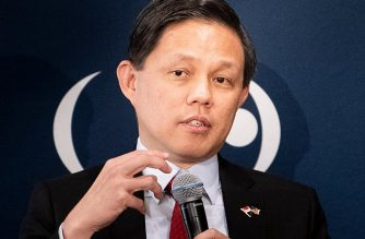 Singapore's Trade Miniser Chan Chun Sing speaks during an event before the US-ASEAN Business Council March 20, 2019 in Washington, DC. (Photo by Brendan Smialowski / AFP)