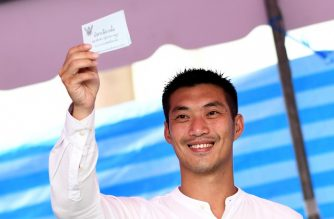 Future Forward Party leader Thanathorn Juangroongruangkit casts his ballot in a polling station in Bangkok on March 24, 2019, during Thailand's general election. (Photo by Jewel SAMAD / AFP)