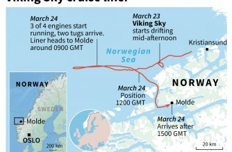 Stricken Norwegian liner reaches port after airlift drama