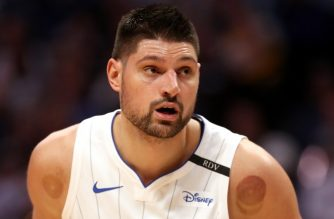 DENVER, CO - NOVEMBER 23: Nikola Vucevic #9 of the Orlando Magic plays the Denver Nuggets at the Pepsi Center on November 23, 2018 in Denver, Colorado.   Matthew Stockman/Getty Images/AFP NOTE TO USER: User expressly acknowledges and agrees that, by downloading and or using this photograph, User is consenting to the terms and conditions of the Getty Images License Agreement. (Photo by Matthew Stockman/Getty Images)