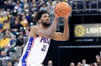 INDIANAPOLIS, IN - JANUARY 17: Joel Embiid #21 of the Philadelphia 76ers shoots the ball against the Indiana Pacers at Bankers Life Fieldhouse on January 17, 2019 in Indianapolis, Indiana. NOTE TO USER: User expressly acknowledges and agrees that, by downloading and or using this photograph, User is consenting to the terms and conditions of the Getty Images License Agreement.   Andy Lyons/Getty Images/AFP