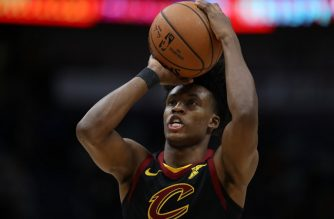 NEW ORLEANS, LOUISIANA - JANUARY 09: Collin Sexton #2 of the Cleveland Cavaliers shoots a free throw against the New Orleans Pelicans at Smoothie King Center on January 09, 2019 in New Orleans, Louisiana. NOTE TO USER: User expressly acknowledges and agrees that, by downloading and or using this photograph, User is consenting to the terms and conditions of the Getty Images License Agreement.   Chris Graythen/Getty Images/AFP