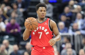 INDIANAPOLIS, INDIANA - JANUARY 23: Kyle Lowry #7 of the Toronto Raptors dribbles the ball against the Indiana Pacers at Bankers Life Fieldhouse on January 23, 2019 in Indianapolis, Indiana.   Andy Lyons/Getty Images/AFP
