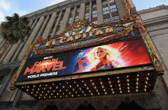 """HOLLYWOOD, CA - MARCH 04: A view of the atmosphere during the Los Angeles World Premiere of Marvel Studios' """"Captain Marvel"""" at Dolby Theatre on March 4, 2019 in Hollywood, California.   Charley Gallay/Getty Images for Disney/AFP"""