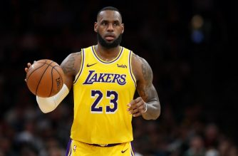 BOSTON, MASSACHUSETTS - FEBRUARY 07: LeBron James #23 of the Los Angeles Lakers dribbles against the Boston Celtics during the second half at TD Garden on February 07, 2019 in Boston, Massachusetts. NOTE TO USER: User expressly acknowledges and agrees that, by downloading and or using this photograph, User is consenting to the terms and conditions of the Getty Images License Agreement.   Maddie Meyer/Getty Images/AFP