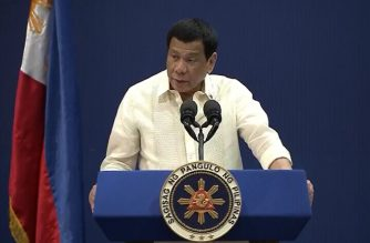 President Rodrigo  Duterte graces the opening ceremony of the 32nd Biennial Convention of the Federation of Filipino-Chinese Chambers of Commerce and Industry, Inc. (FFCCCII) at the SMX Convention Center in Pasay City on March 21, 2019.  (Photo grabbed from RTVM video/Courtesy RTVM/Malacanan)