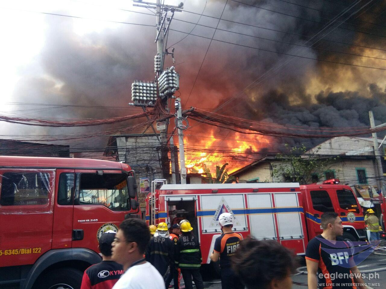 Watch:  Fire hits residential area in Bgy Damayang Lagi, Quezon City