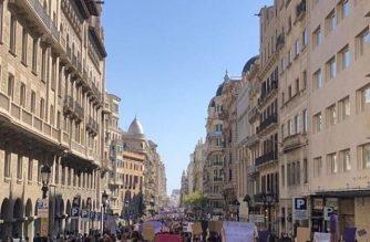 Tanto hombres como mujeres participaron en las marchas en Barcelona para conmemorar el Día Internacional de la Mujer el 8 de marzo. /Fotos de Ruth Glyn Escueta y Paul Marc Bolilan/Eagle News/